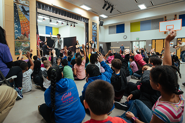 Sammy Miller and The Congregation performs at Mtn View Elementary